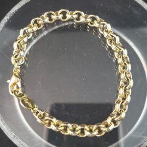 Vintage Napier Gold Tone Chain Link Bracelet